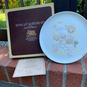 Precious moments collectors plate